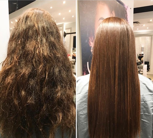 Botox Hair Treatment - Before and After