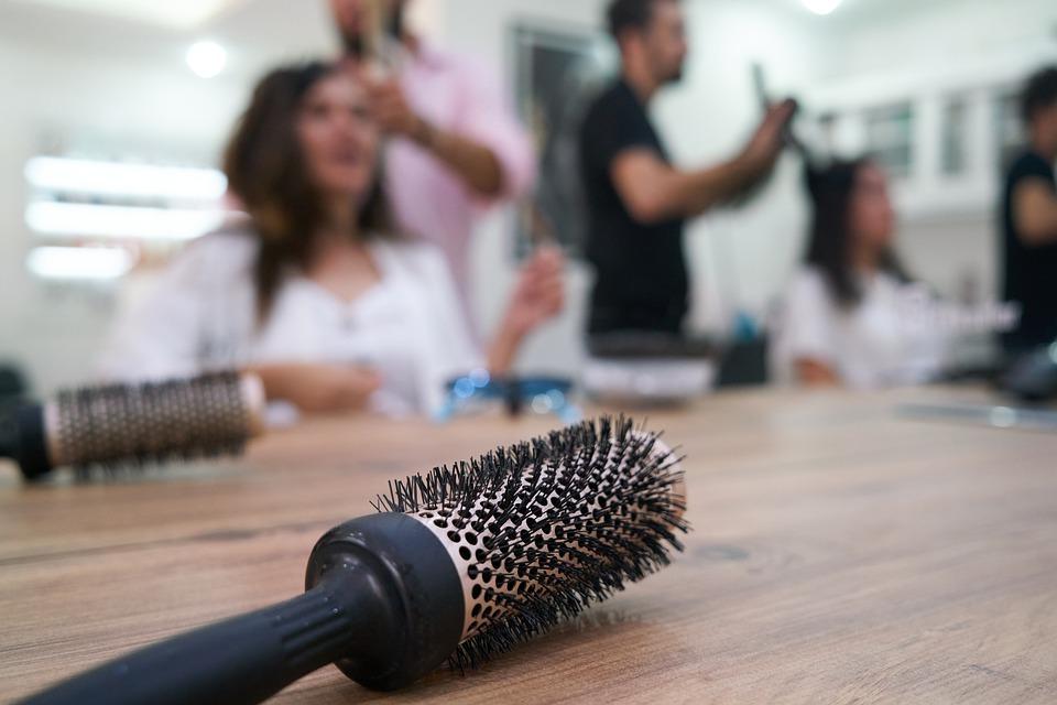 Olivia Garden hair brush at hair salon