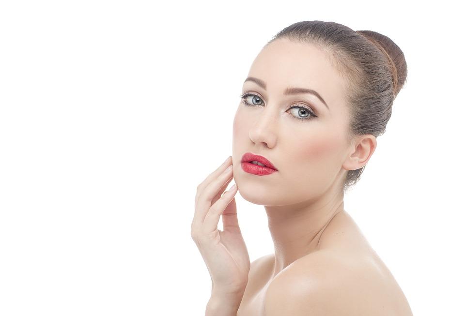 woman with pretty skin