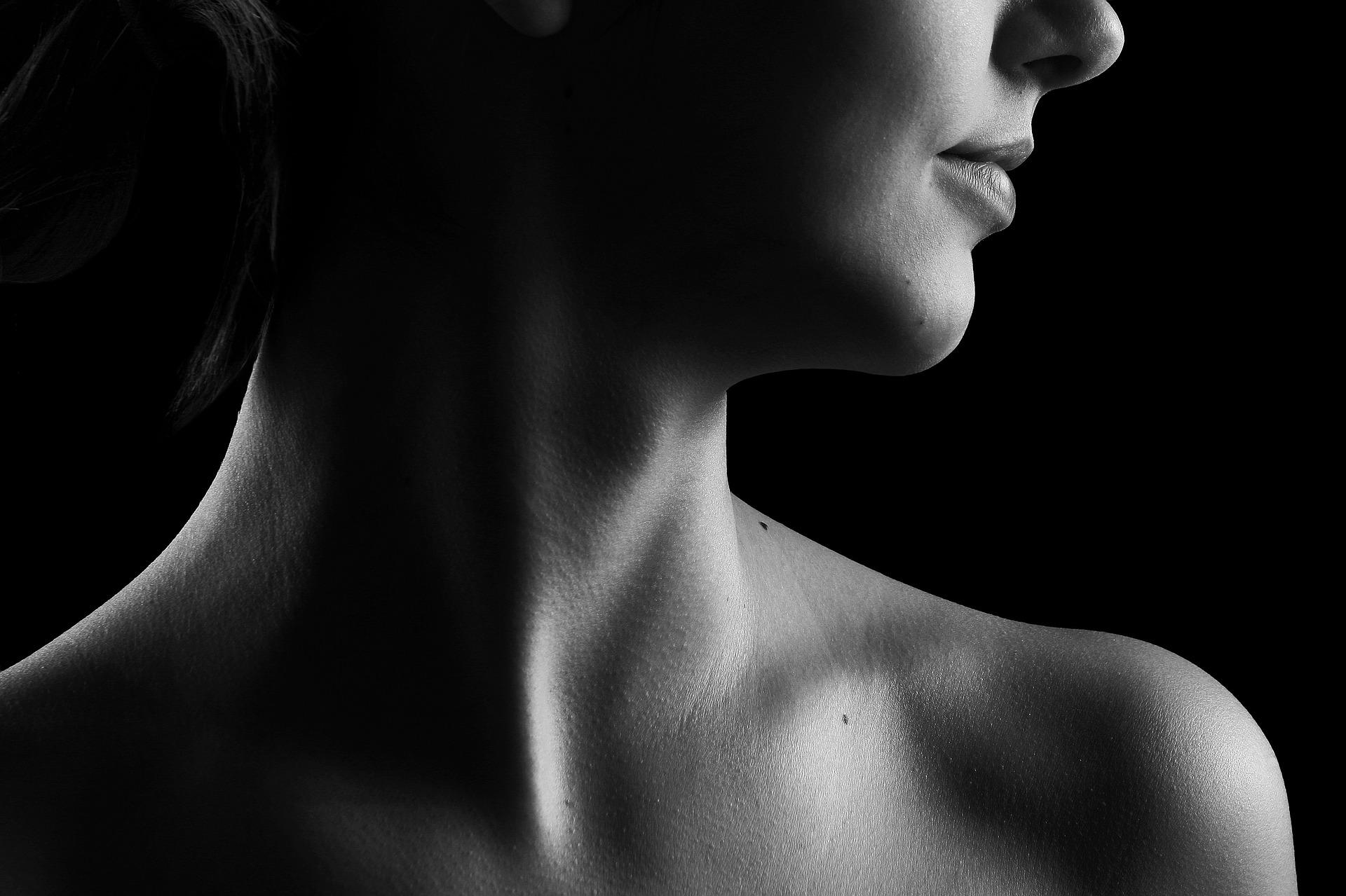 woman's skin after facial