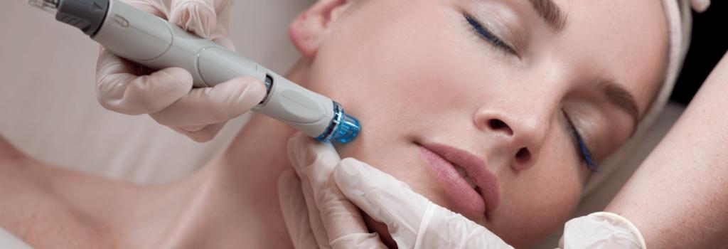 woman getting hydrafacial treatment