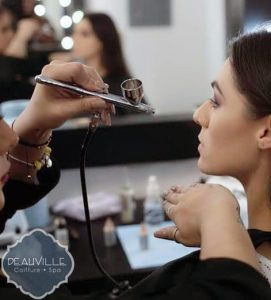 Location where the makeup service is offered