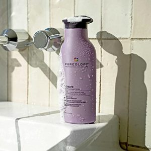 Pureology hair products on display at Montreal salon